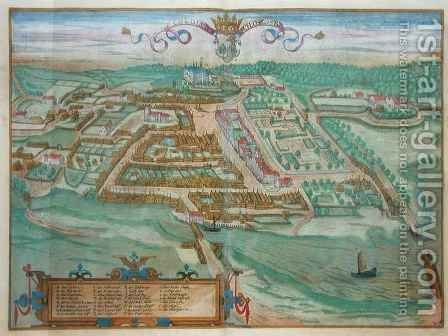 Colding from Civitates Orbis Terrarum by (after) Hoefnagel, Joris - Reproduction Oil Painting