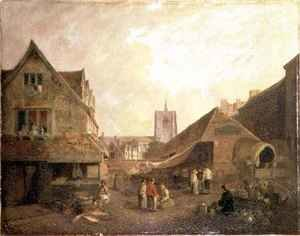Reproduction oil paintings - David Hodgson - Old Fishmarket Norwich