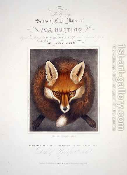 Title Page from A Series of Eight Plates of Fox Hunting by (after) Hodges, Walter Parry - Reproduction Oil Painting