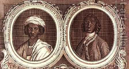 Job son of Solliman Dgiallo High Priest of Bonda in the country of Foota Africa and William Ansah Sessarakoo son of John Bannishee Corrantee Ohinnee of Anamaboe by (after) Hoare, William, of Bath - Reproduction Oil Painting
