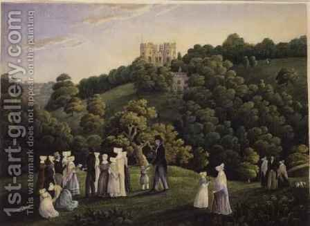 A Prospect of Midford Castle by H. Hoare - Reproduction Oil Painting