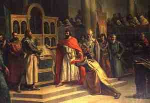 The Oath of Santa Gadea El Cid Campeador extracts an oath from Alfonso VI the King of Castille that in the Year 1072 he had no part in the murder of his brother Sancho II