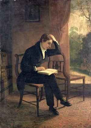 Neo-Classical painting reproductions: Portrait of John Keats