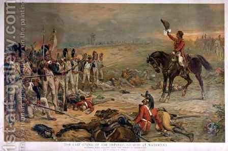 The Last Stand of the Imperial Guards at Waterloo in 1815 by (after) Hillingford, Robert Alexander - Reproduction Oil Painting