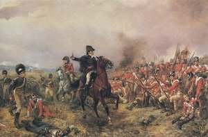 Famous paintings of Horses & Horse Riding: The Duke of Wellington at Waterloo