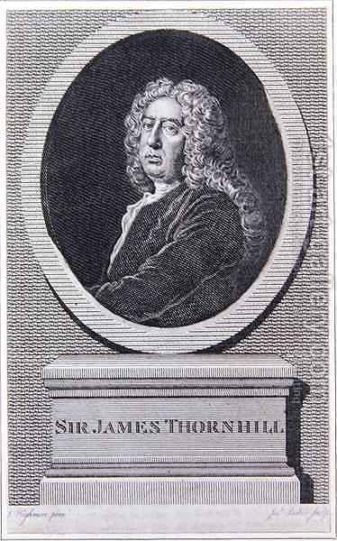 Sir James Thornhill by (after) Highmore, Joseph - Reproduction Oil Painting
