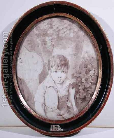Honore de Balzac 1799-1850 aged six by Henri Joseph Hesse - Reproduction Oil Painting