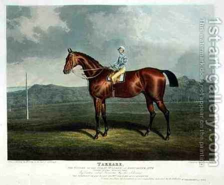 Tarrare the Winner of the Great St Leger at Doncaster by (after) Herring Snr, John Frederick - Reproduction Oil Painting