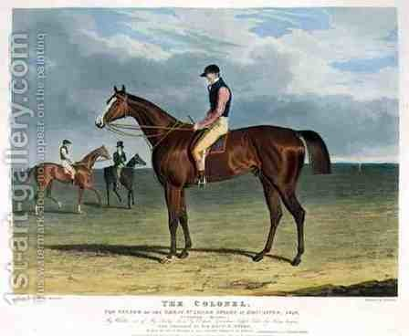 'The Colonel the Winner of the Great St Leger Stakes at Doncaster by (after) Herring Snr, John Frederick - Reproduction Oil Painting