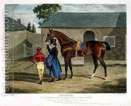 Antonio the Winner of the Great St Leger at Doncaster by (after) Herring Snr, John Frederick - Reproduction Oil Painting