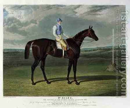 St Giles the Winner of the Derby Stakes at Epsom by (after) Herring Snr, John Frederick - Reproduction Oil Painting