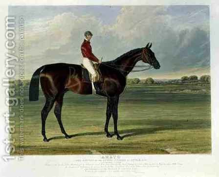 Amato the Winner of the Derby Stakes at Epsom by (after) Herring Snr, John Frederick - Reproduction Oil Painting