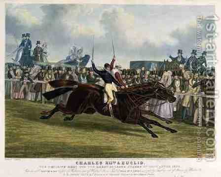 Charles XII and Euclid The Decisive Heat for the Great St Leger Stakes at Doncaster by (after) Herring Snr, John Frederick - Reproduction Oil Painting