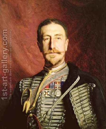 Colonel Frederick Richard Thomas Trench Gascoigne DSO by Herman Gustave Herkomer - Reproduction Oil Painting