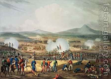Battle of Fuentes DOnoro by (after) Heath, William - Reproduction Oil Painting