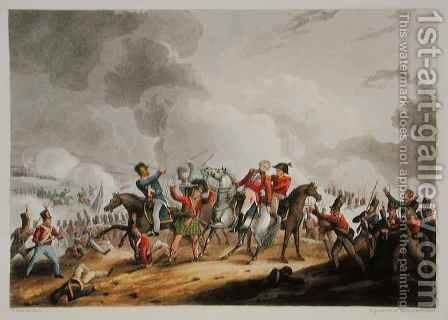 Death of Sir Ralph Abercromby 1734-1801 March 21st 1801 from The Martial Achievements of Great Britain and her Allies from 1799 to 1815 by (after) Heath, William - Reproduction Oil Painting
