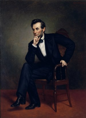 Famous paintings of Men: Portrait of Abraham Lincoln