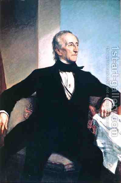 John Tyler 1790-1862 by (after) Healy, George Peter Alexander - Reproduction Oil Painting