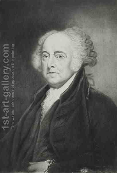 John Adams 2nd President of the United States of America by (after) Healy, George Peter Alexander - Reproduction Oil Painting