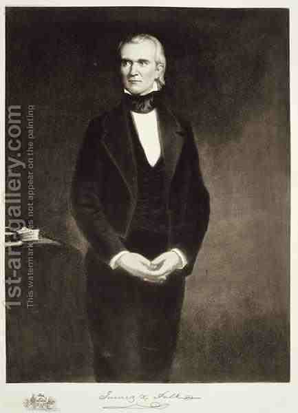 James K Polk 1795-1849 11th President of the United States of America by (after) Healy, George Peter Alexander - Reproduction Oil Painting