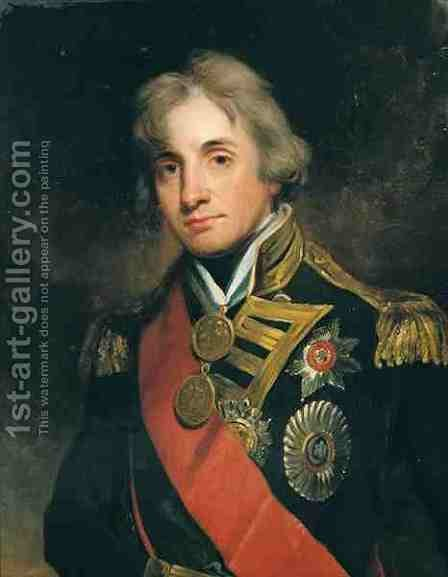 Portrait of Nelson 1758-1805 by (after) Healy, George Peter Alexander - Reproduction Oil Painting
