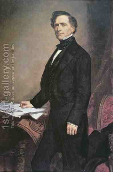 Franklin Pierce 1804-69 by (after) Healy, George Peter Alexander - Reproduction Oil Painting