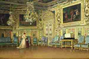 Rococo painting reproductions: The Oval Salon at Versailles