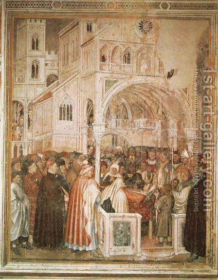 Death of St Lucy by Altichiero da Zevio - Reproduction Oil Painting