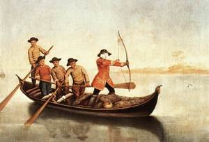 Reproduction oil paintings - Pietro Longhi - Duck Hunters on the Lagoon
