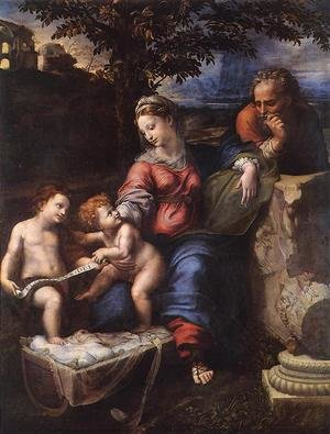 Famous paintings of The Holy Family: Holy Family below the Oak