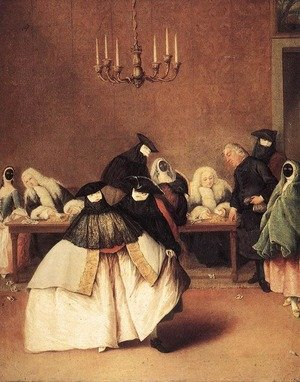 Reproduction oil paintings - Pietro Longhi - Il Ridotto