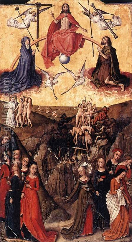 Last Judgment anf the Wise and Foolish Virgins by - Unknown Painter - Reproduction Oil Painting