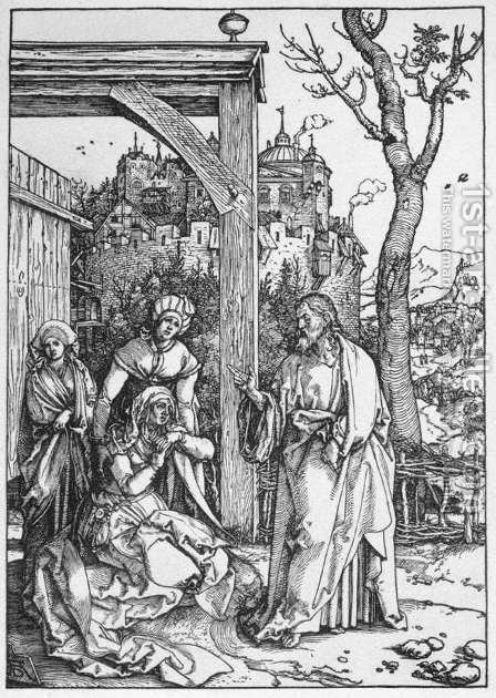Life of the Virgin 16. Christ Taking Leave of his Mother by Albrecht Durer - Reproduction Oil Painting