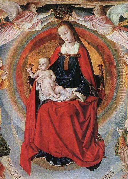Madonna Enthroned with Saints by - Unknown Painter - Reproduction Oil Painting