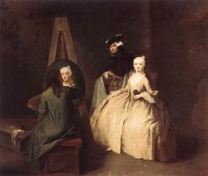 Reproduction oil paintings - Pietro Longhi - Painter in his Studio