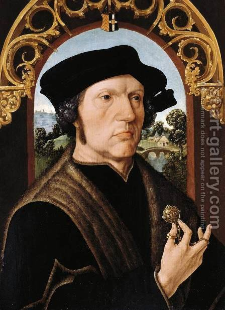 Portrait of a Man by Jacob Cornelisz Van Oostsanen - Reproduction Oil Painting