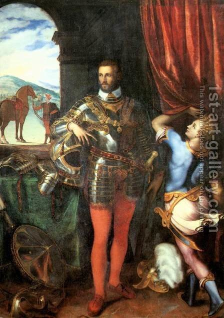Portrait of Ottavio Farnese by Giulio Campi - Reproduction Oil Painting