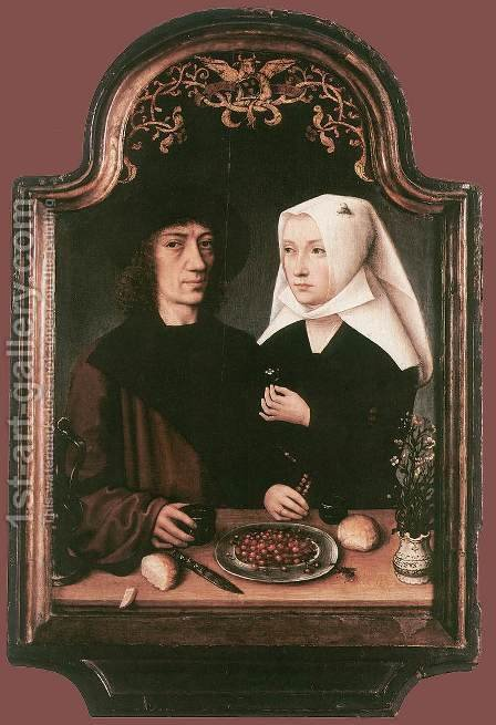 Portrait of the Artist and his Wife by - Unknown Painter - Reproduction Oil Painting