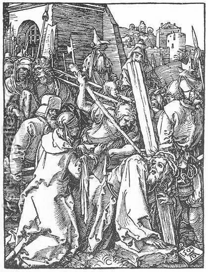Small Passion 21. Christ Bearing the Cross by Albrecht Durer - Reproduction Oil Painting