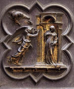 Reproduction oil paintings - Lorenzo Ghiberti - The Annunciation