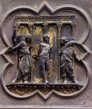 Reproduction oil paintings - Lorenzo Ghiberti - The Flagellation