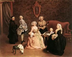Reproduction oil paintings - Pietro Longhi - The Little Concert