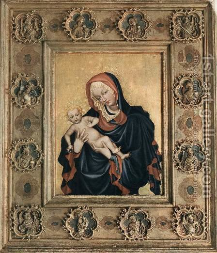 The Madonna of St Vitus Cathedral in Prague by - Unknown Painter - Reproduction Oil Painting