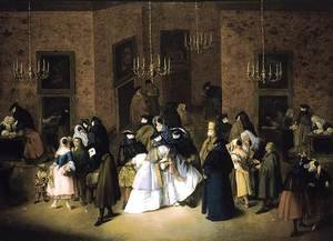 Reproduction oil paintings - Pietro Longhi - The Ridotto in Venice