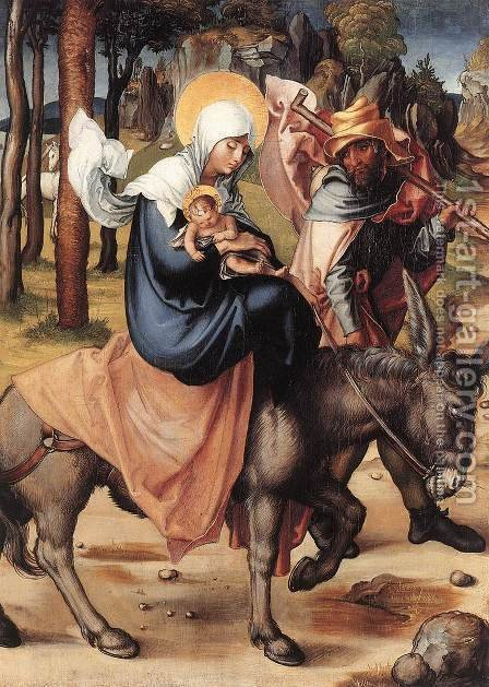 The Seven Sorrows of the Virgin The Flight into Egypt by Albrecht Durer - Reproduction Oil Painting