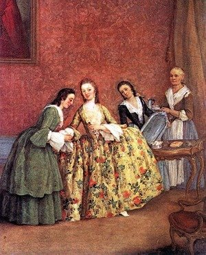 Reproduction oil paintings - Pietro Longhi - The Venetian Lady's Morning
