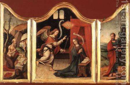 Triptych by - Unknown Painter - Reproduction Oil Painting