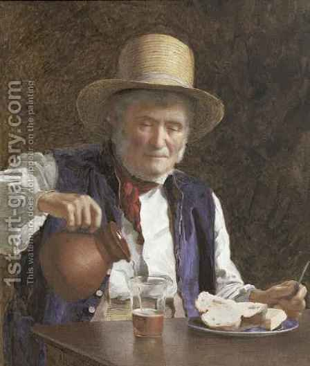 James Hayllar: Lunch Time - reproduction oil painting