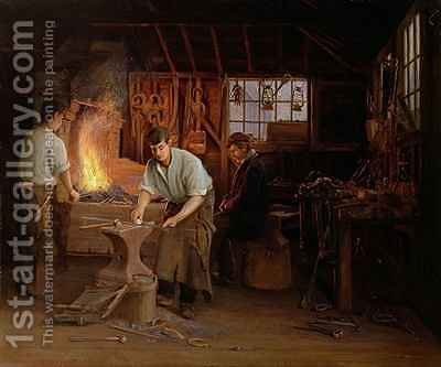 The Blacksmiths Shop by Albert Hayes - Reproduction Oil Painting