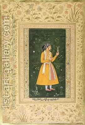 A Indian man Mughal by Abu'l Hasan - Reproduction Oil Painting